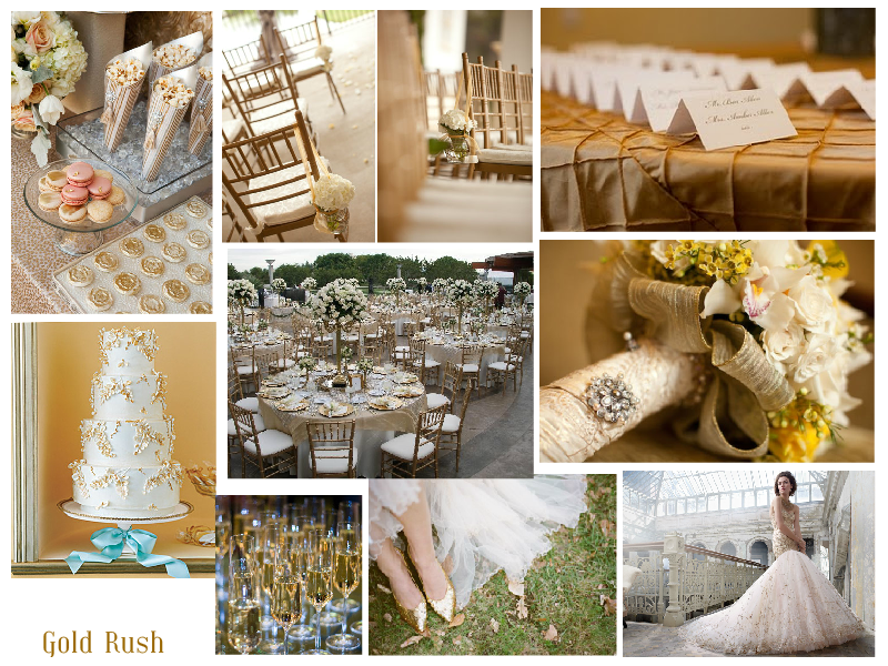 Wedding Inspiration: Olympic Gold Rush