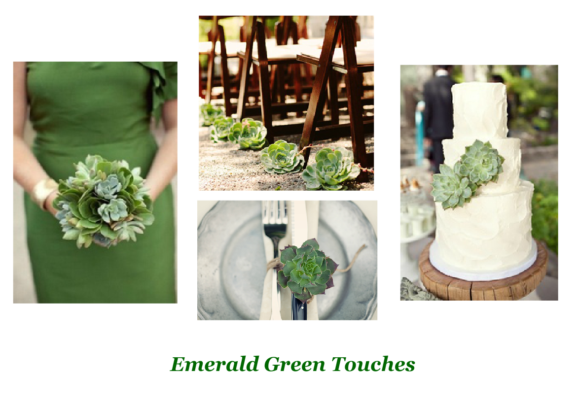 emerald green touches