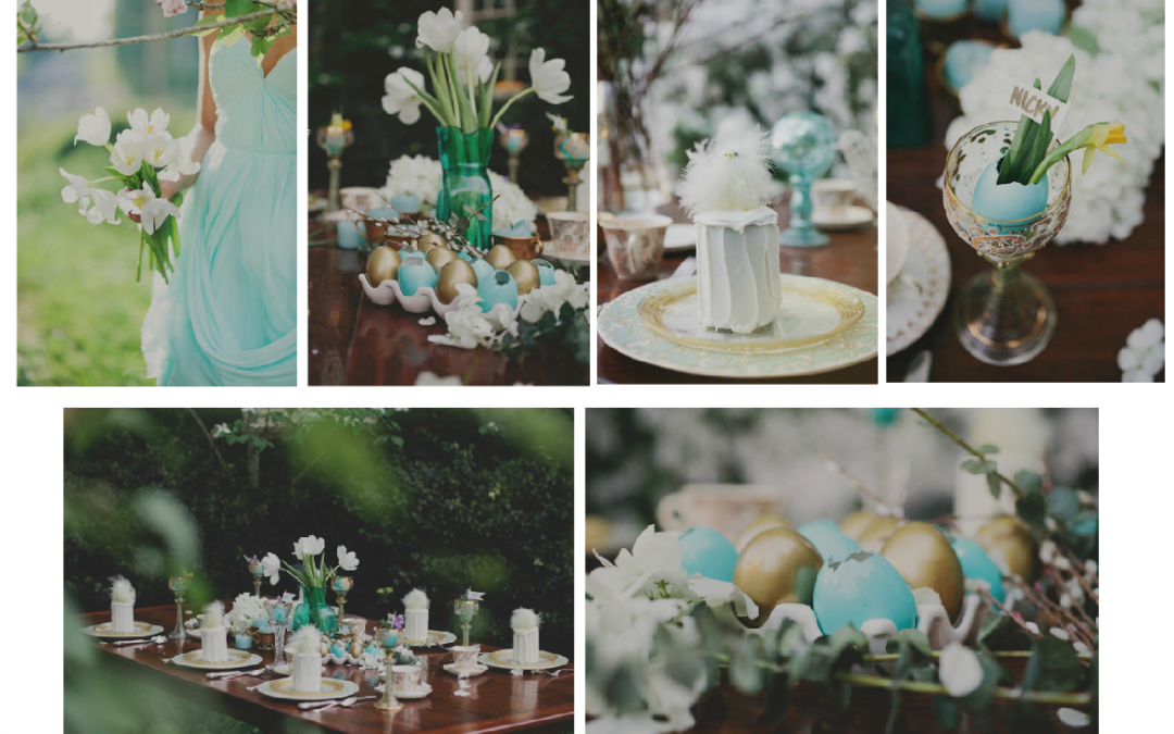 Wedding Inspiration: Aqua & Gold