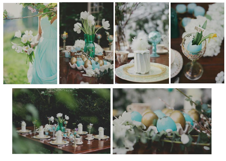 Wedding Inspiration: Aqua and Gold