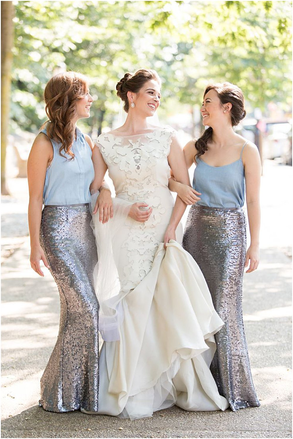fashion conscious bridesmaids