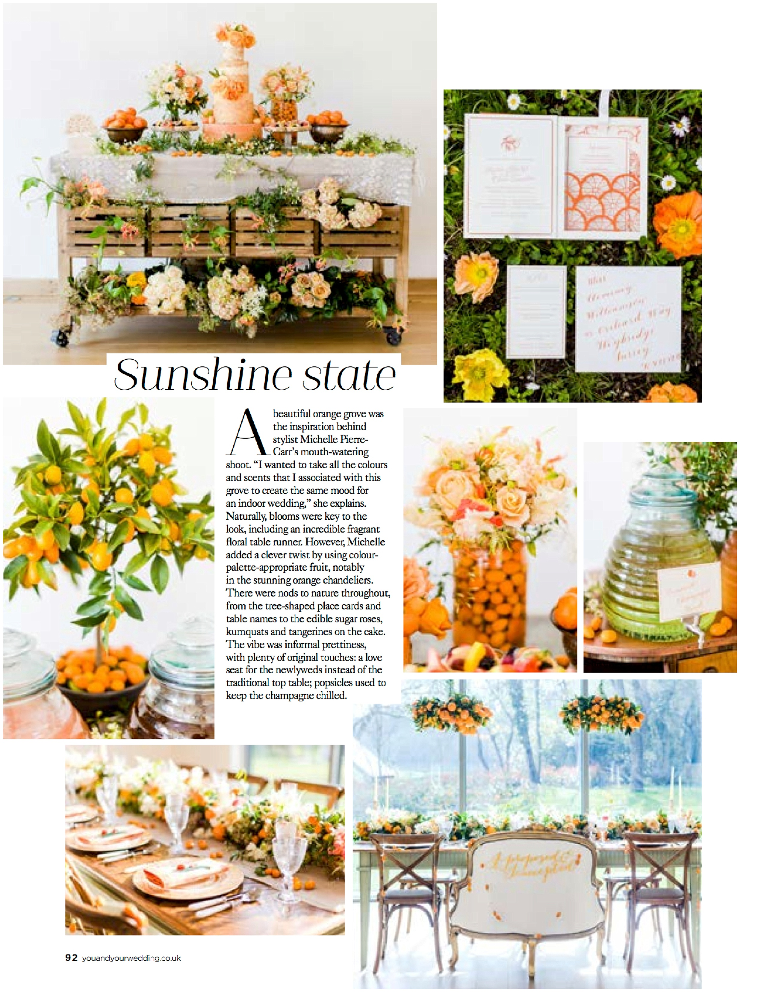 Published/Press: Featured in You & Your Wedding Magazine