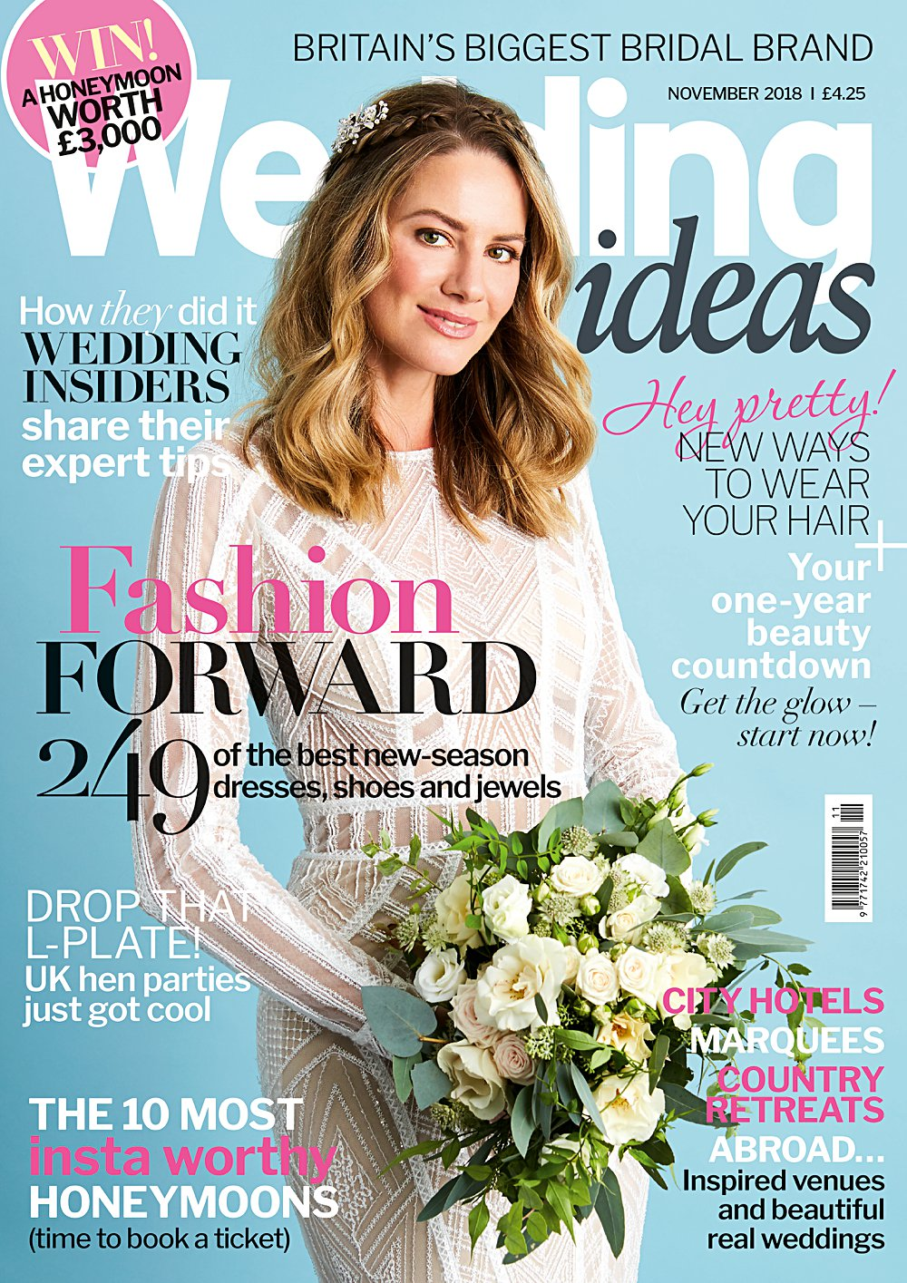 The March cover of Wedding Ideas styled by Pierre Carr