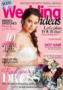 The Autumn cover of Wedding Ideas styled by Pierre Carr