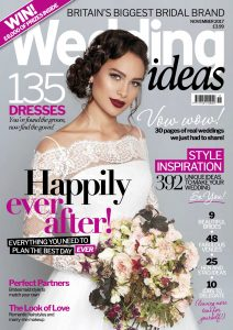 The November cover of Wedding Ideas styled by Pierre Carr