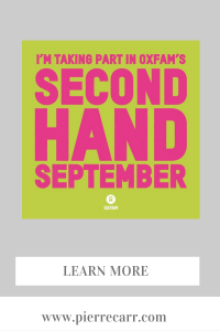 Fashion stylist @styledbypierrecarr takes part in second hand september